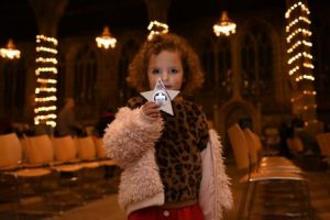 Little girl with lightsmall