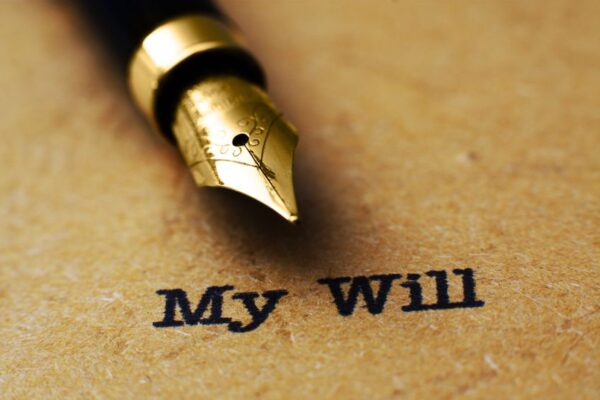 Making a will - A fountain pen above the words 'My Will'