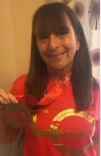 Annette Knowles with Virtual London Marathon medal