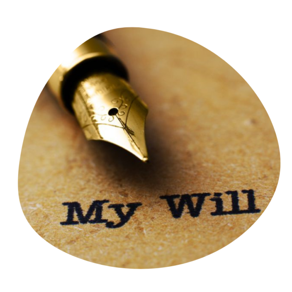 """Fountain pen, placed above the words """"My Will"""""""