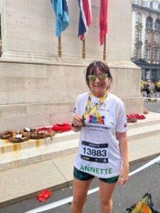 Annette at London Landmarks race