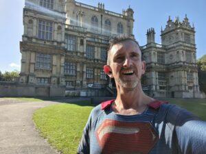 Bryan running marathon as Superman