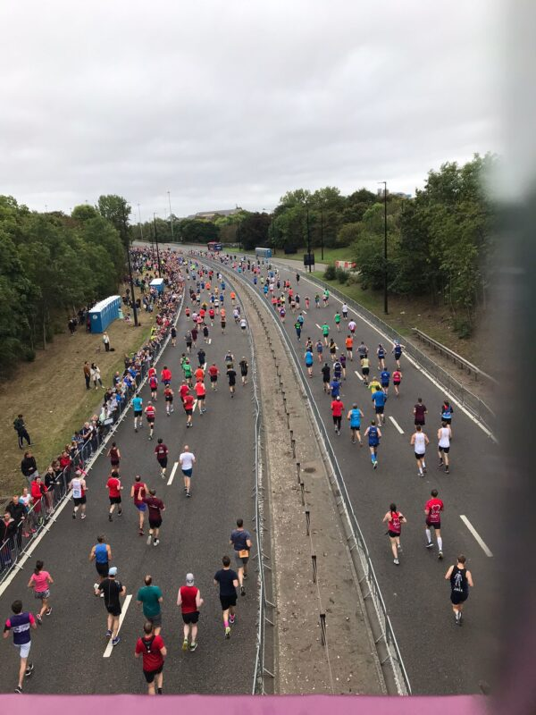 Runners in the Great North Run 2021